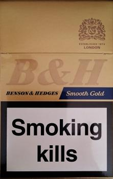 Benson & Hedges Smooth Gold
