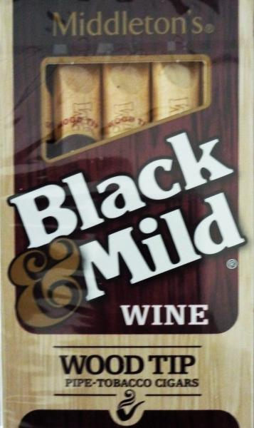 John Middleton Black & Mild Wine Wood Tip Cigars