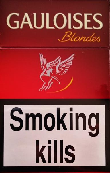 Gauloises Blondes Red Cigarettes