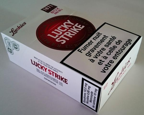 Lucky Strike Red Cigarettes