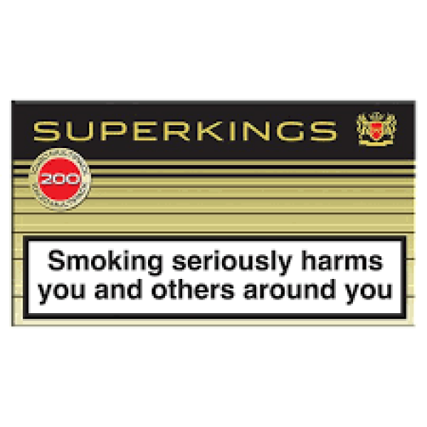 Superkings Black Cigarettes